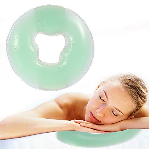 Oreiller en silicone doux de massage pour le visage, relaxation, repose-tête, SPA, salon de beauté, soins de la peau, couverture douce pour le visage, relaxer le poids, coussin de salon