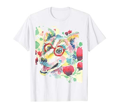 Dog Monster Kostüm - Watercolor Painting Genius Dog Kostüm Cute Halloween Gift T-Shirt