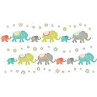 Wallpops Self Adhesive Tag Along Elephants Kit, Multi