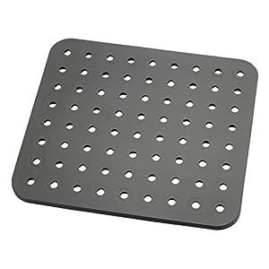 Wenko 2005571100 Spülbeckeneinlage Kristall, schwarz, extra stark, eckig, Kunststoff, 31 x 27,5 cm