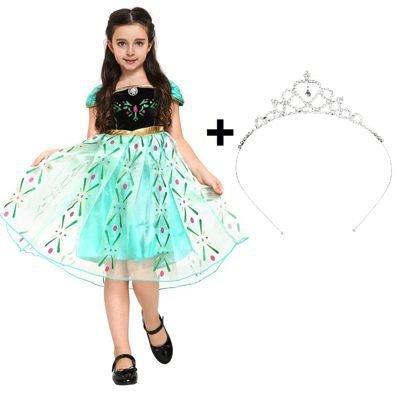 Disfraz de princesa Anna - Traje de Reina de las Nieves -...