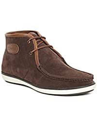 Duke Men's Synthetic Suede Boots - 8