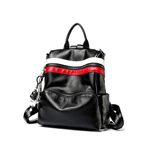 Weibliche Tasche Weiches Leder Schultertasche Schulter Handtasche Mädchen Student Reise Multifunktionale Lässige Tasche A