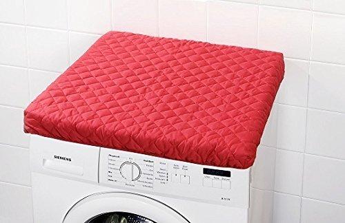Waschmaschinenüberzug rot waschbar 60x60x4cm Spannbezug