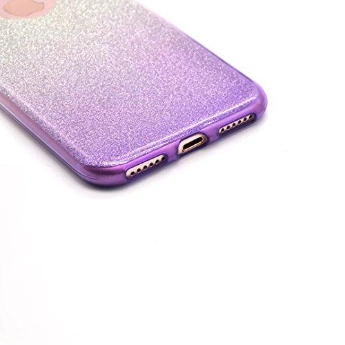 iPhone 6s Hülle, iPhone 6 Hülle, Vandot Schutzhülle für iPhone 6 6s Case Cover mit Kratzfeste Stoßdämpfende Ohr Ultra Thin Dünn Soft TPU Silikon Hülle Bling Shining Crystal Kristall Glitzer Rundum Sch Gradient Lila