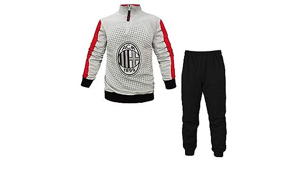 Pigiama Invernale Milan in Pile Abbigliamento Ufficiale AC Milan ...
