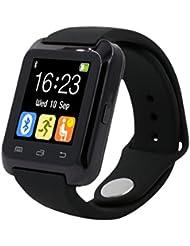 Smartwatch,Fulltime® Imperméable Bluetooth 4.0 Multi-Languages Bluetooth intelligente Montre podomètre saine pour iPhone LG Samsung ( Noir)