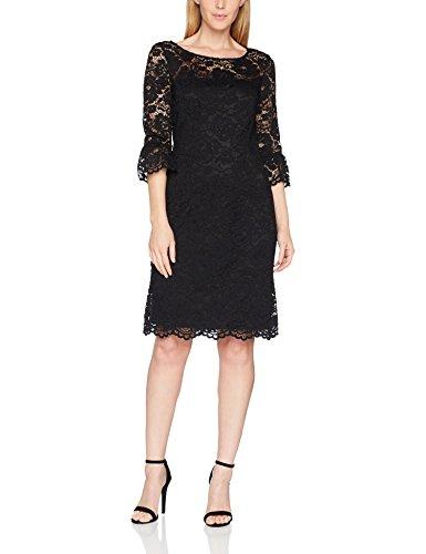 ESPRIT Collection Damen Kleid 097EO1E004 Schwarz (Black 001) 34