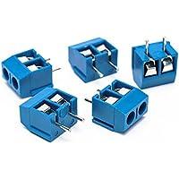 Suyep Schraubklemmenblock Steckverbinder KF301-2P Blau Kupfer
