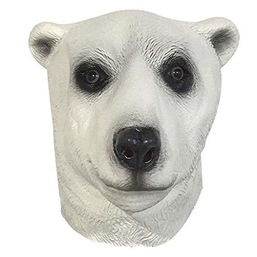 LYLLB-festival items Latex Eisbär Maske Kopfbedeckung Halloween Party Kostüm Dekorative Maske