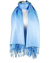 Yinglite elegant einfarbig Viskose Schal Fransen/Pashmina Schals . Modischer Schal Damen großer Wraps weicher Schal Schals. Crash and Crinkle