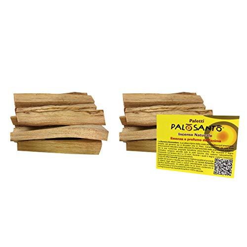 Palo Santo Legnetti - Palo Santo Incenso Originale in Paletti - Raccolti in Modo Etico e Sostenibile - Confezione convenienza 200 Gr. - Legno Naturale 100% Bursera Graveolens Perù