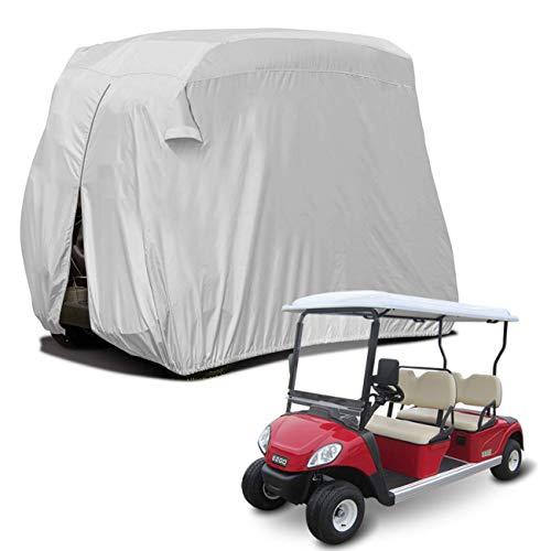 Kimmyer 4 Passagiere Golf Cart Cover, Hochwertige Passform, Wetterfest Wetterfester UV-Schutz Staub, 266,7 x 119,4 x 157,5 cm / 105 x 47 x 62 Zoll