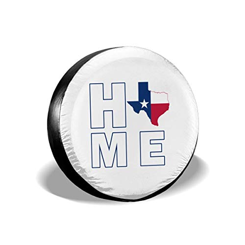 best& Home Texas State Polyester Universal Spare Wheel Tire Cover Wheel Covers Jeep Trailer Rv SUV Truck Camper Travel Trailer Accessories 14 Inch -