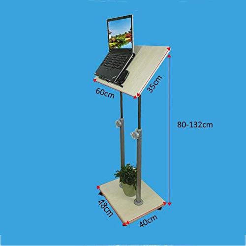 CWJ Haushalt Kleinen Tisch Mobile Stand Up Desk Podium Präsentation Rednerpult Höhenverstellbar Mehrzweck Steharbeitsplatz Einfache Kreative Bett Multifunktionstisch,A (80-132) cm -