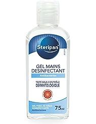 STERIPAN - Steripan Gel Antibactérien Pour Les Mains – Elmine Les Bactéries – Format Pratique – Parfum Agréable - 75 ML