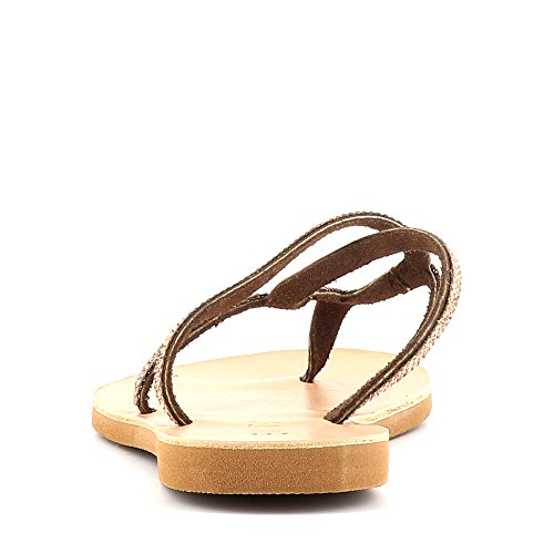 Chaussures Evita Greta, Sandali Donna Dunkelbraun