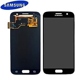 Samsung Galaxy d'origine S7 G930F AMOLED - Écran LCD tactile Noir - Service pièce de rechange GH97-18523A