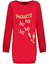 Heart & Soul Ladies Xmas Tunic Jumper Collection Crew Neck Novelty Knitted Top
