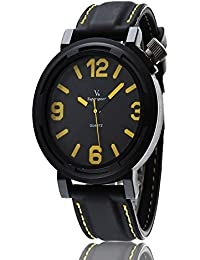 iSweven V6 series simple fashion silicone strap sports Mens watch Analogue Black Unisex Wrist Watch w1059c