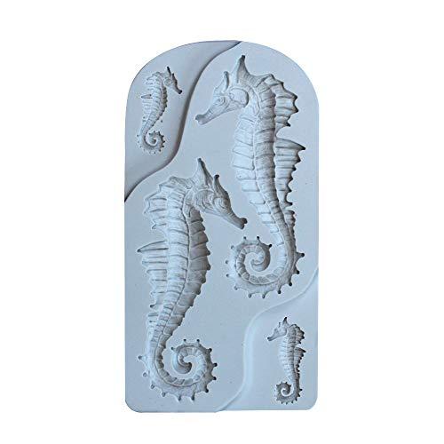 Hippocampus-Form-Silikon-Fondant-Schokoladen-Kuchen-Form-Backwerkzeug ()