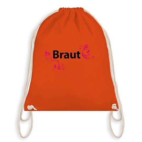 JGA Junggesellinnenabschied - Braut - Turnbeutel I Gym Bag Orange