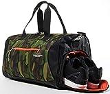 TOMMYVERSAL Sporttasche Camouflage stylische Fitnesstasche Reisetasche Sporttasche mit Schuhfach...