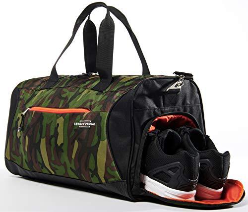 TOMMYVERSAL Sporttasche Camouflage stylische Fitnesstasche Reisetasche Sporttasche mit Schuhfach Sporttasche für Männer und Frauen - Männer Camouflage