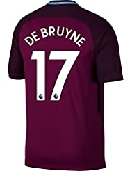 free shipping 8009e 3f8f0 Nike Manchester City Away de Bruyne Jersey 2017 2018 (Authentique EPL  Impression)
