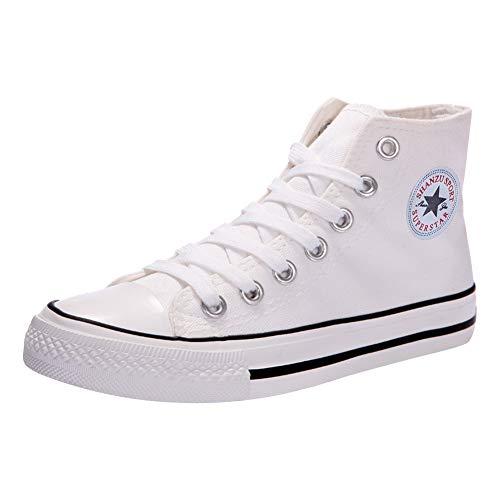 6cc77b74683fd Padgene - Zapatillas de Deporte Mujer Zapatillas Canvas de Lona Unisex de  Mujer o Hombre Estilo