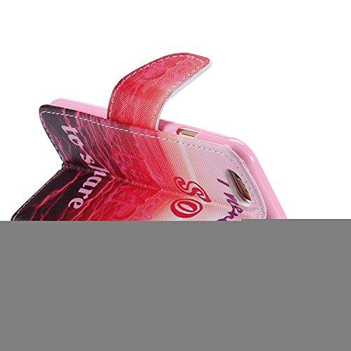 Ooboom® iPhone 5SE Coque PU Cuir Flip Housse Étui Cover Case Wallet Portefeuille Fonction Support avec Porte-cartes pour iPhone 5SE - Girafe So Much Love