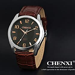 Beautiful Watches , CHENXI® Men's Dress Watch Simple Design Brown Leather Strap