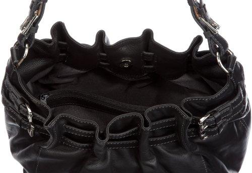 Gerry Weber Catania 08/21/16959, Damen Schultertaschen 39x29 cm (B x H x T) Schwarz (Black 900)