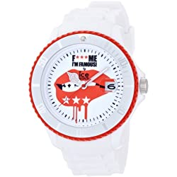 Ice-Watch F*** Me I'm Famous White Lips Silicon Strap Big Big 52mm M.SS.WEL.BB.S