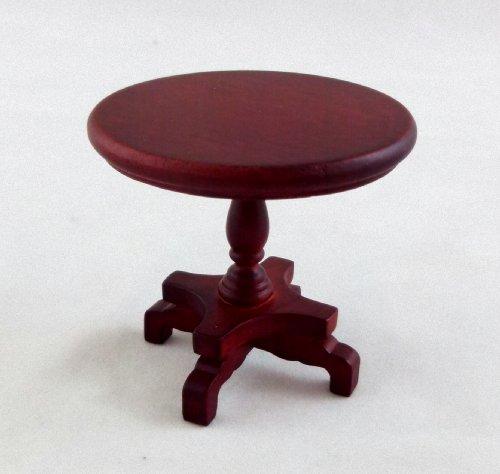 Preisvergleich Produktbild Puppenhaus Loungemöbel Rund Mahagoni Podest Lampe Beistelltisch