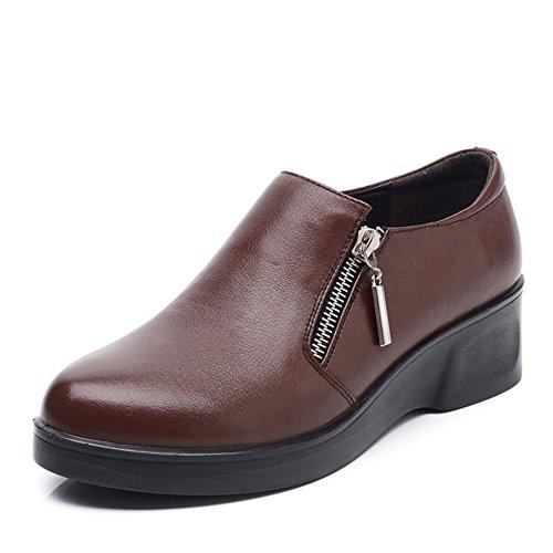 Chaussures grandes femmes d'âge moyen/Maman et chaussures de fond mou/ chaussures femme/Chaussures de femmes d'âge mûr/Les souliers B