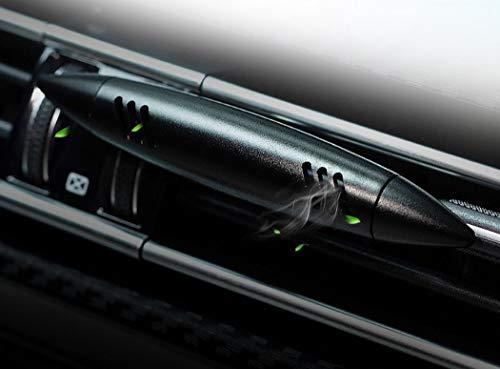 Coche ambientador Coche Socket Perfume Transpirable ambientador Coche Aire Acondicionado Clip imán difusor sólido Perfume,Black