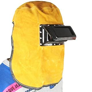 Welding Mask Cowhide Leather Comfortable Welding Hood Helmet by Atoplee