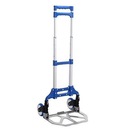 Anmas Box Pieghevole Mano Trolley Resistente Sack Truck Bagagli Carretto Pieghevole Pacco Scarpone Carrello - Blu