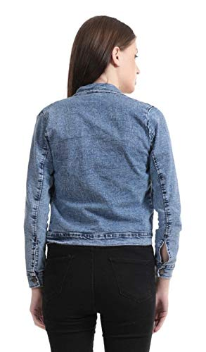 Adiba Women's Denim Jacket (Blue, XL)