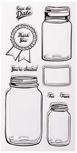 Inkadinkado 60-31236 Mason Jars Clear Set (Mason Jar Crafts For Kids)