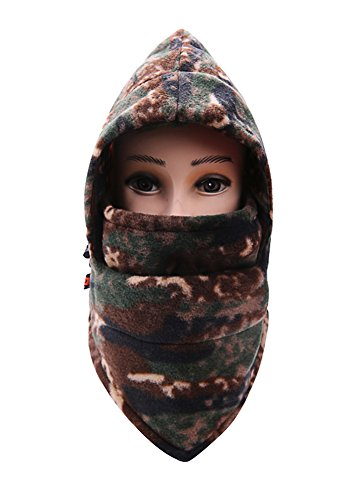 MAIBU Tarnung Windbreaker Neck Warm CS Balaclava verstellbar Unisex Winter Ski Radfahren Full Face Mask Hat (Camo 6)