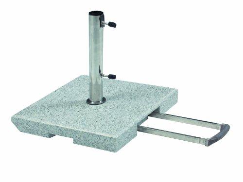 Doppler 70 kg Trolley Granit Schirmständer mit Rollen und Trolleyfunktion
