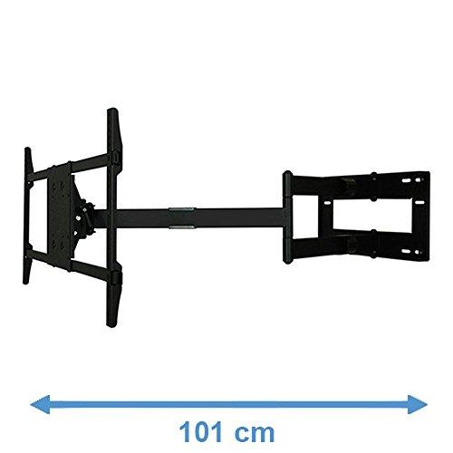 """DQ Reach XXL 101 cm TV Wandhalterung Schwarz - Empfohlene TV-Größe: 42"""" - 80"""" - VESA 200x200 ... 800x400 mm - Vollbeweglich / Drehbar / Schwenkbar / Neigbar"""