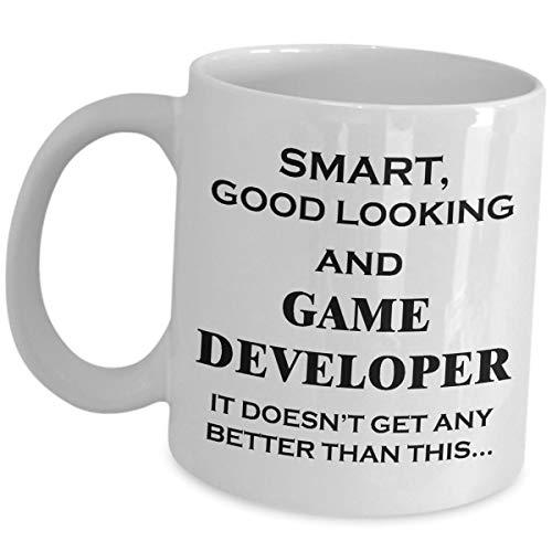 Gifts for Video Game Designer - Smart Good Looking It Doesnt Get Any Better - Coffee Mug Tea Cup Funny Cute Gag Gift Idea Developer Design Gaming Dev Team Development Men Women Gamer Appreciation - Video Karte Hitze