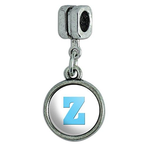 euro-stil-armband-charm-bead-buchstabe-baby-boy-block-schriftart-blau-dusche-letter-z-initial