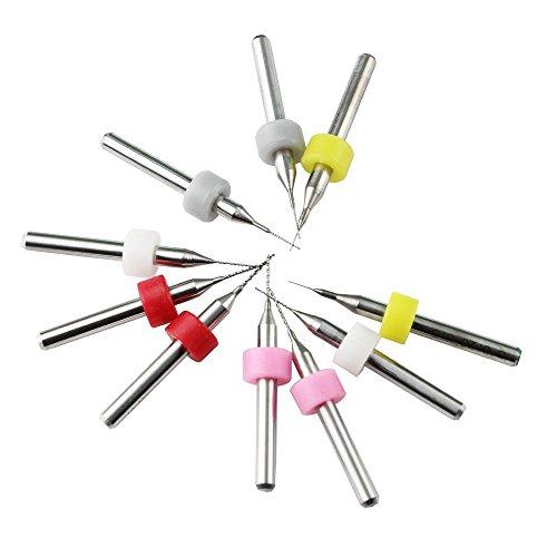 KINYOOO 10 Stücke Düse Reinigungswerkzeug Kit, für 3D Drucker Extruder Düsen Reiniger Kit (0,2mm 0,3mm 0,4mm 0,5mm 0,6 mt jeder größe 2 stücke)