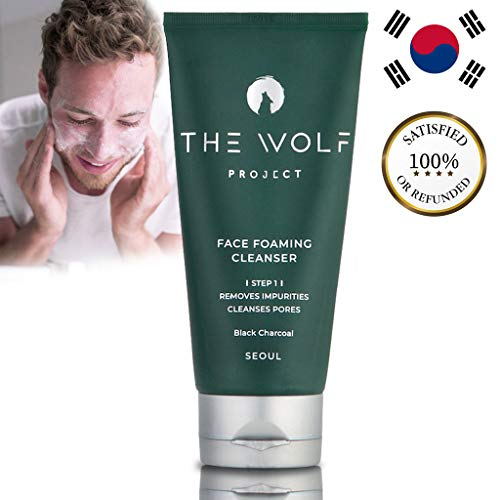 Waschgel Gesicht Männer // Reinigungsgel mit Aktivkohle // Porentiefe Gesichtsreinigung für Herren // Face wash men