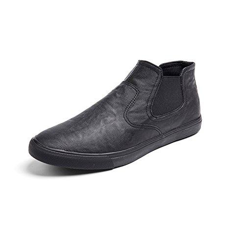 YIXINY Chaussures de sport Mode Loisirs Chaussures Pour Hommes PU Jeunesse Chaussures Lazy Chaussures De Plaque Chaussures De Conduite Quatre Couleurs ( Couleur : Black 1 , taille : EU39/UK6.5/CN40 ) Black 1