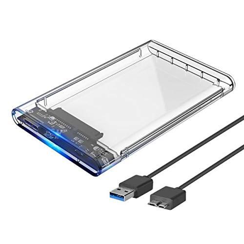 Hanpmy Festplattengehäuse Externes 2,5-Zoll-USB-3.0-SATA3-Festplattengehäuse